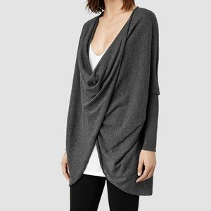 All Saints ITAT shrug criss cross gray size 8